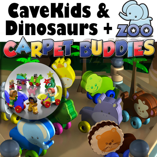 CaveKids Dinosaurs and Zoo Buddies (2 PDF Downloads) Wood Toy Plans