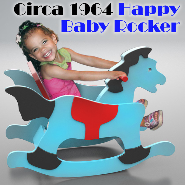 Circa 1964 Happy Baby Rocker (PDF Download) Wood Toy Plans