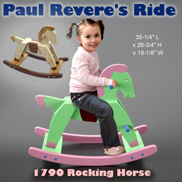 1790 Rocking Horse Paul Revere's Ride (PDF Download) Wood Toy Plans