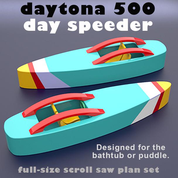 Daytona 500 Day Speeder (PDF Download) Wood Toy Plans