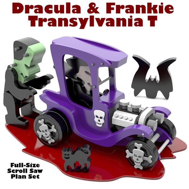 Dracula & Frankie Transylvania T (PDF Download) Wood Toy Plans