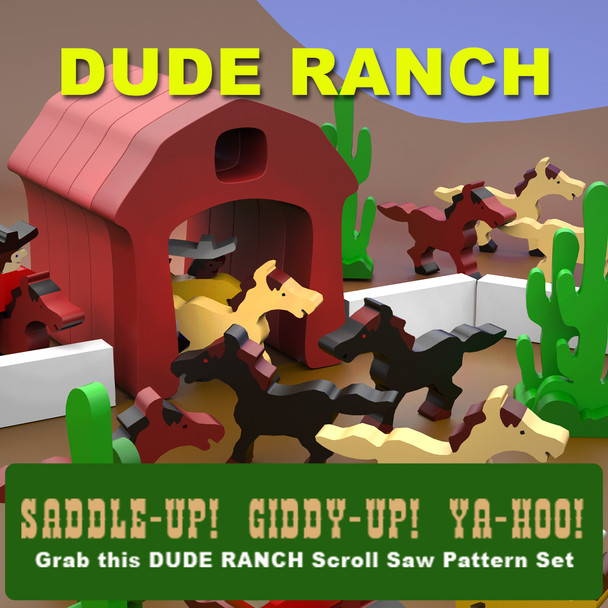 Dude Ranch (PDF Download) Wood Toy Plans