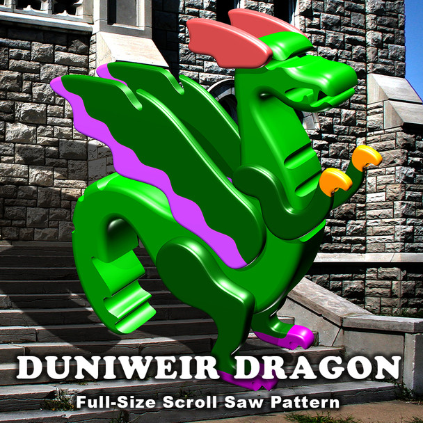 Duniweir Dragon Scroll Saw Toy Pattern (PDF Download) Wood Toy Plans
