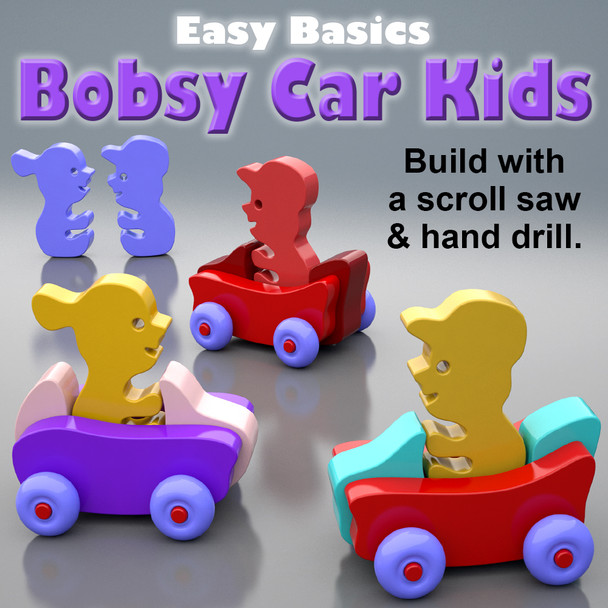 Easy Basics Bobsy Car Kids (PDF Download) Wood Toy Plans