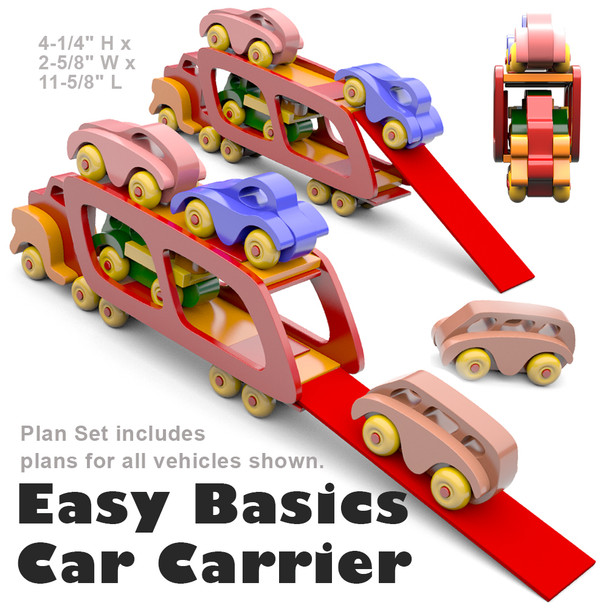 Easy Basics Car Carrier (PDF Download) Wood Toys Plans
