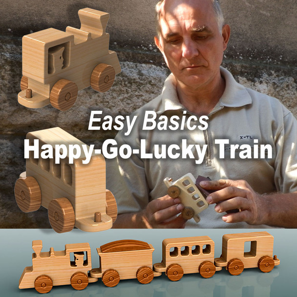 Easy Basics Happy-Go-Lucky Train (PDF Download) Wood Toy Plans