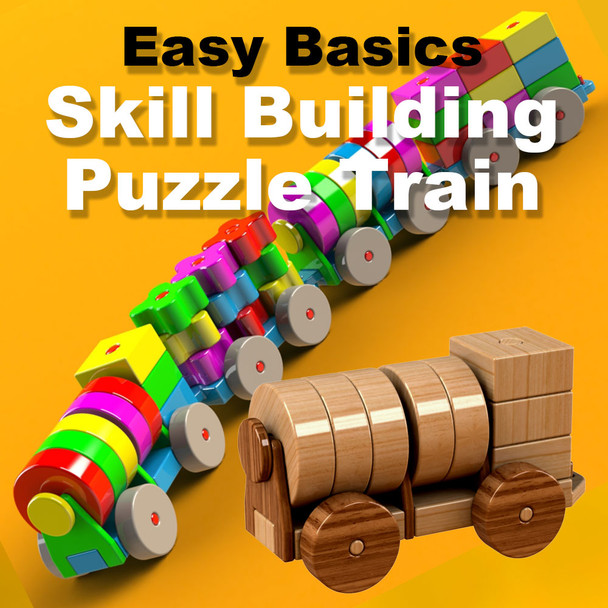 Easy Basics Skill Building Puzzle Train (PDF Download) Wood Toy Plans