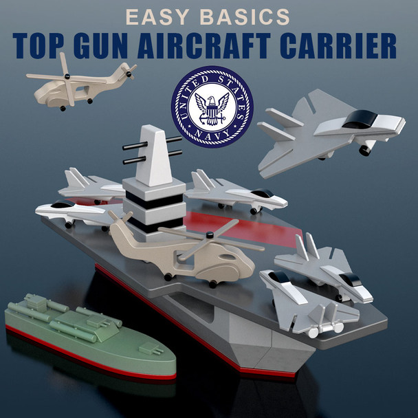 Easy Basics Top Gun Aircraft Carrier (PDF Download) Wood Toy Plans