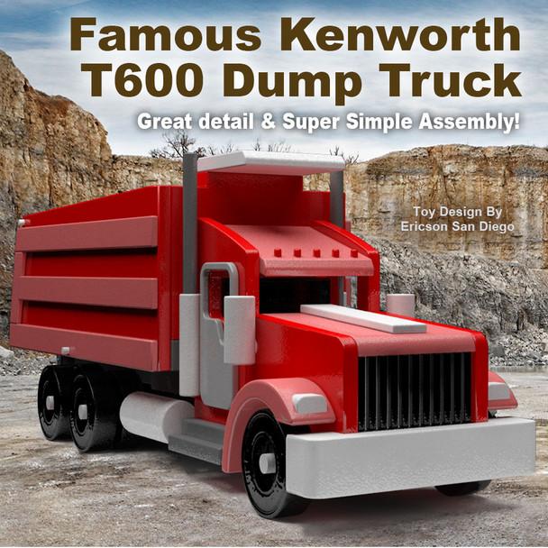 Famous Kenworth T600 Dump Truck (PDF Download) Wood Toy Plans