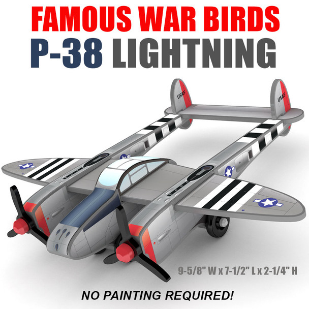 Famous War Birds P-38 Lightning (PDF Download) Wood Toy Plans
