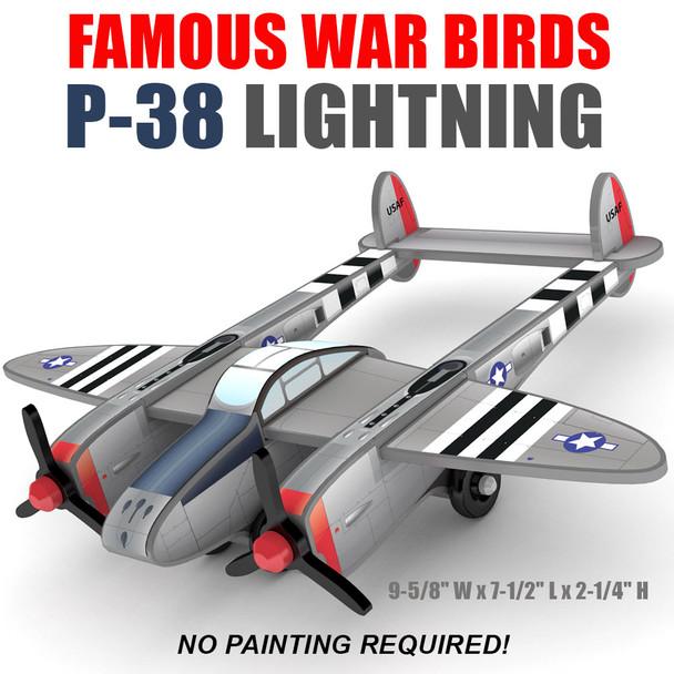 Famous War Birds P-38 Lightning Wood Toy Plans (PDF Download)