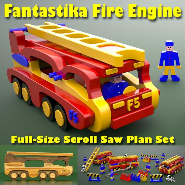 Fantastika Fire Engine (PDF Download) Wood Toy Plans