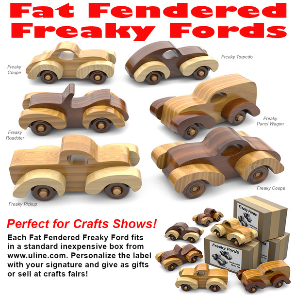 Fat Fendered Freaky Fords (PDF Download) Wood Toy Plans