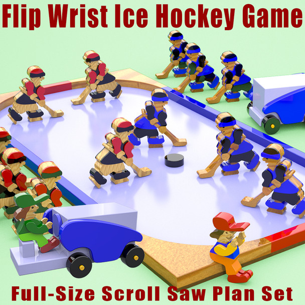 Flip Wrist Ice Hockey Game (PDF Download) Wood Toy Plans