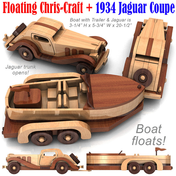 Floating Chris-Craft and 1934 Jaguar Coupe (2 PDF Downloads) Wood Toy Plans