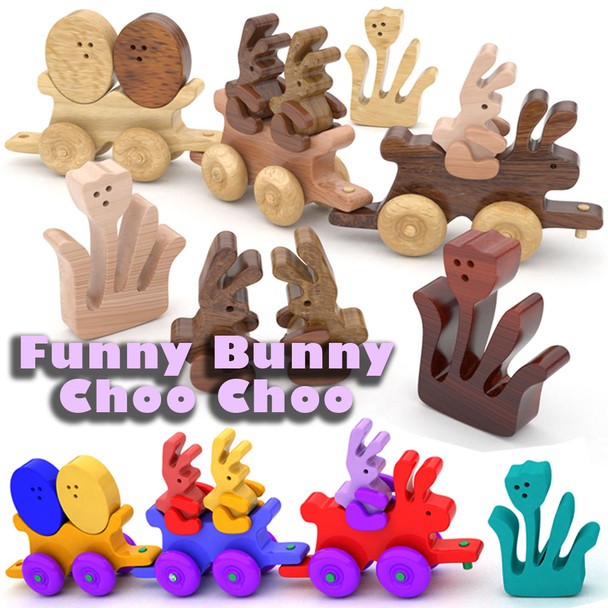 Funny Bunny Choo Choo Train (PDF Download) Wood Toy Plans