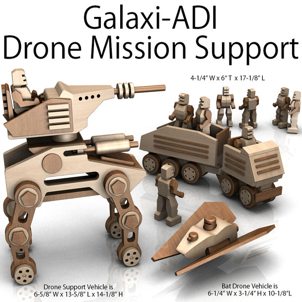 Galaxi-ADI Drone Mission Support (3 PDF Downloads) Wood Toy Plans
