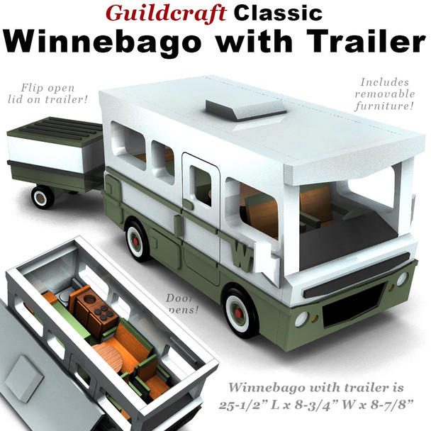 Guildcraft Classic Winnebago with Trailer (PDF Download) Wood Toy Plans