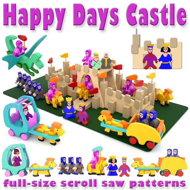 Happy Days Castle & Royals (PDF Download) Wood Toy Plans