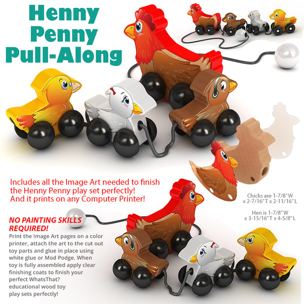 Henny Penny Pull-Along (PDF Download) Wood Toy Plans