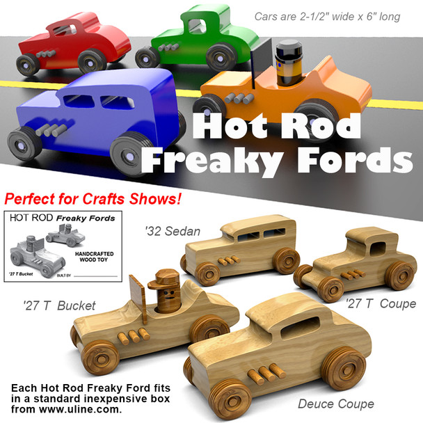 Hot Rod Freaky Fords (PDF Download) Wood Toy Plans