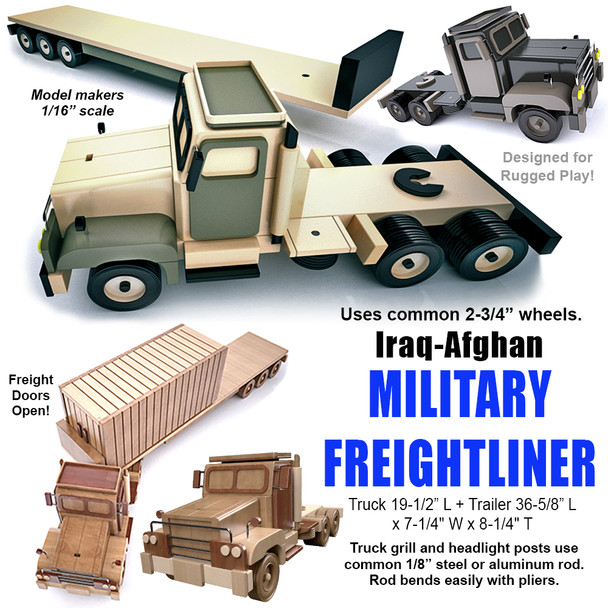Iraq-Afghan Military Freightliner (PDF Download) Wood Toy Plans