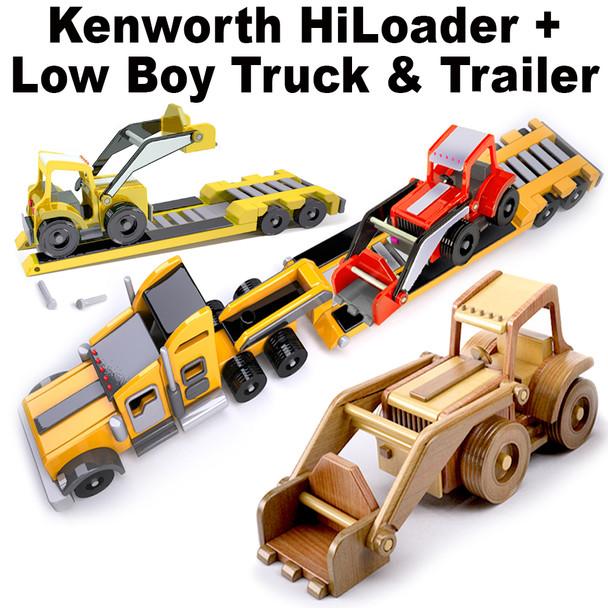 Kenworth HiLoader + LowBoy Truck & Trailer (2 PDF Downloads) Wood Toy Plans