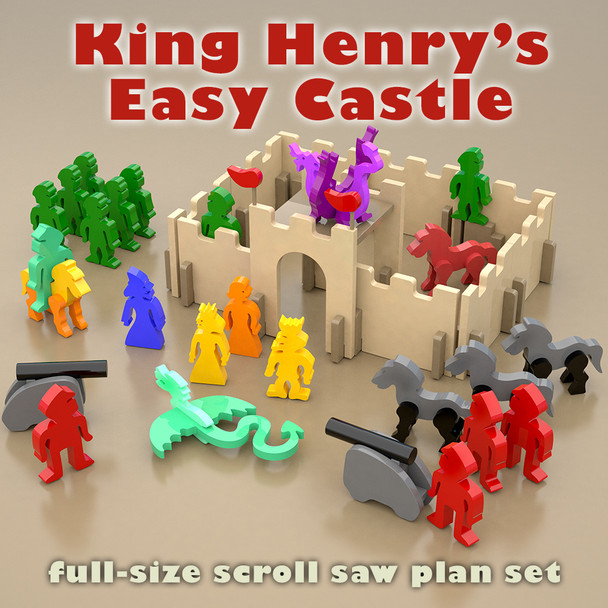 King Henry's Castle (PDF Download) Wood Toy Plans