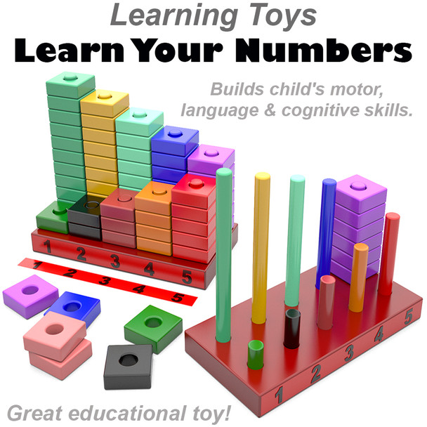 Learning Toys Learn Your Numbers (PDF Download) Wood Toy Plans