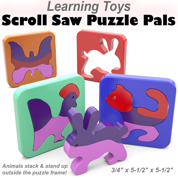 Learning Toys Scroll Saw Puzzle Pals (PDF Download) Wood Toy Plans