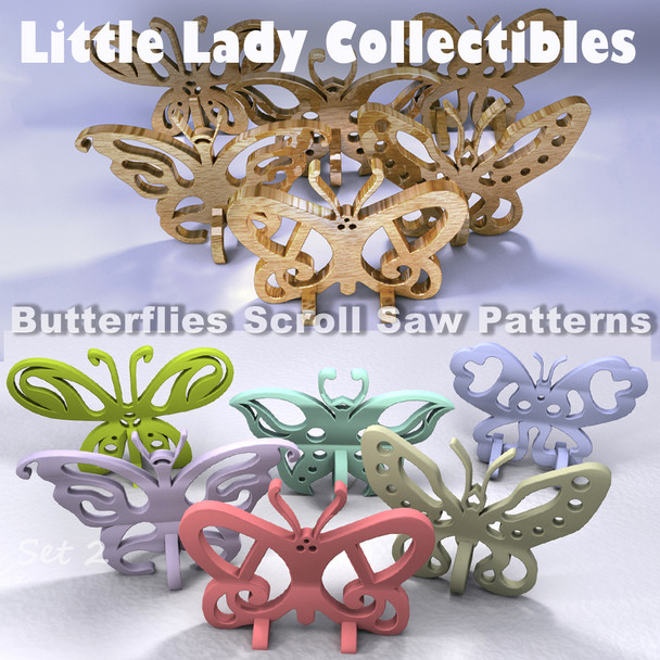 Little Lady Collectible Butterflies (PDF Download) Wood Toy Plans