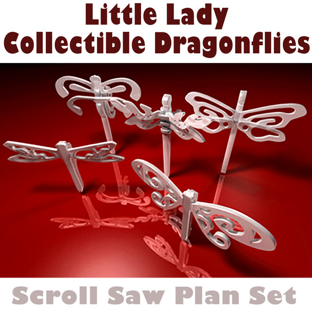 Little Lady Collectible Dragonflies (PDF Download) Wood Toy Plans