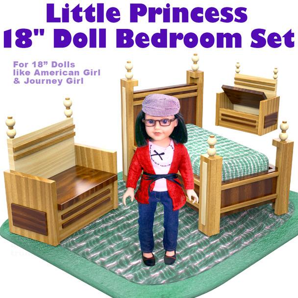 """Little Princess 18"""" Doll Bedroom Set (PDF Download) Wood Toy Plans"""