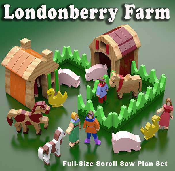 Londonberry Farm (PDF Download) Wood Toy Plans