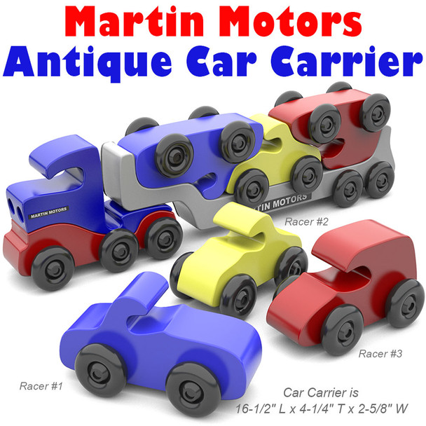 Martin Motors Classic Antique Car Carrier (PDF Download) Wood Toy Plans