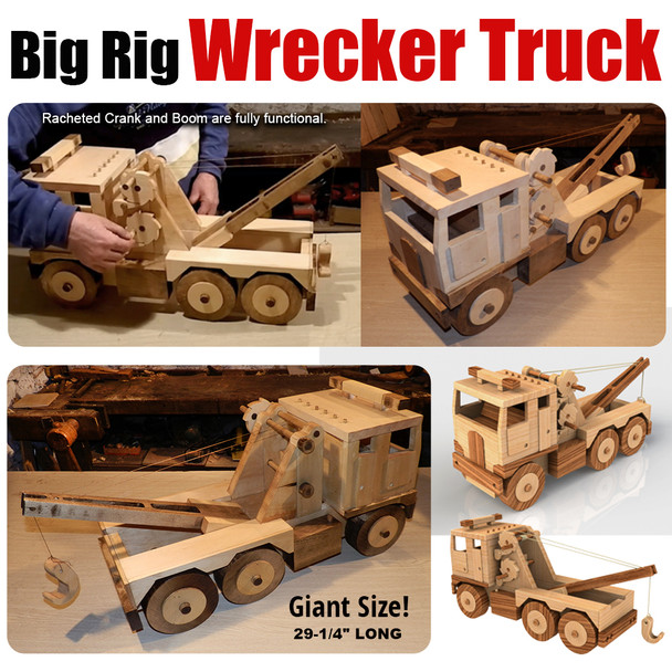 Mega Big Rig GIANT Wrecker Truck (PDF Download) Wood Toy Plans