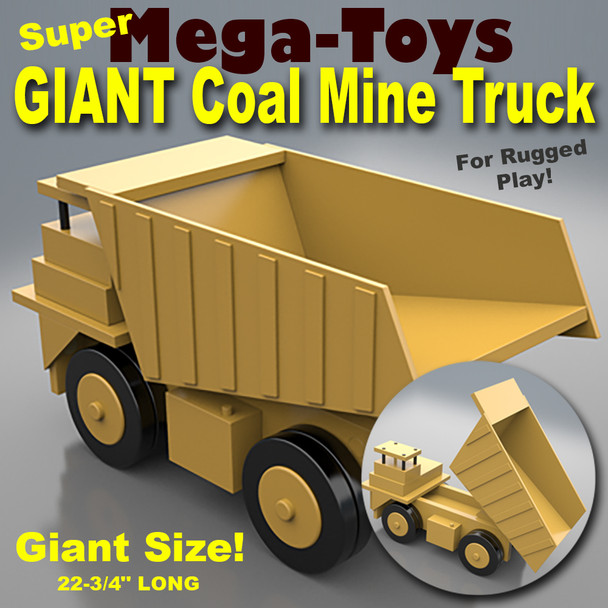 Mega-Toys GIANT Coal Mine Truck (PDF Download) Wood Toy Plans
