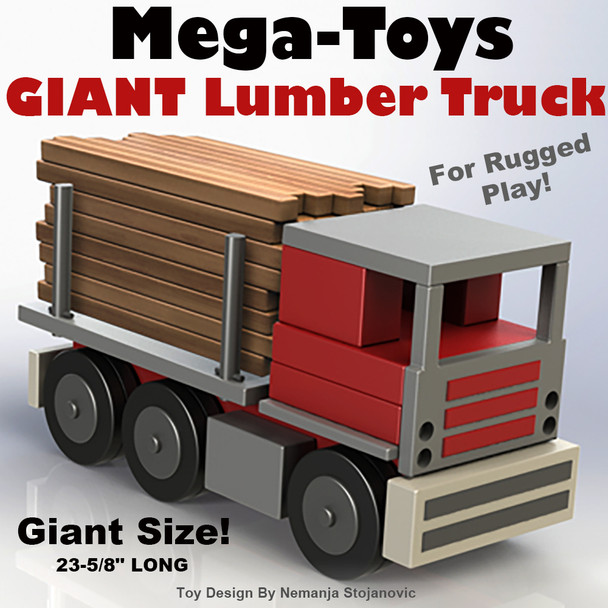 Mega-Toys GIANT Lumber Truck (PDF Download) Wood Toy Plans