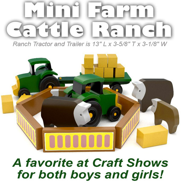 Mini Farms Cattle Ranch (PDF Download) Wood Toy Plan