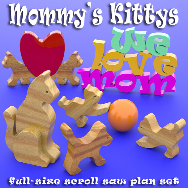 Mommy's Kittys (PDF Download) Wood Toy Plans