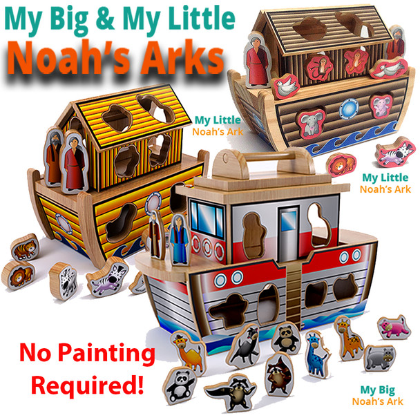 My Big & My Little Noah's Arks (2 PDF Downloads) Wood Toy Plans