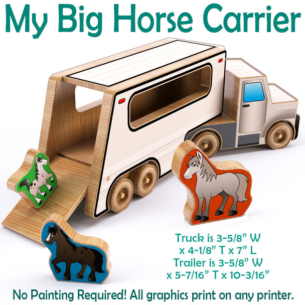 My Big Horse Carrier (PDF Download) Wood Toy Plans