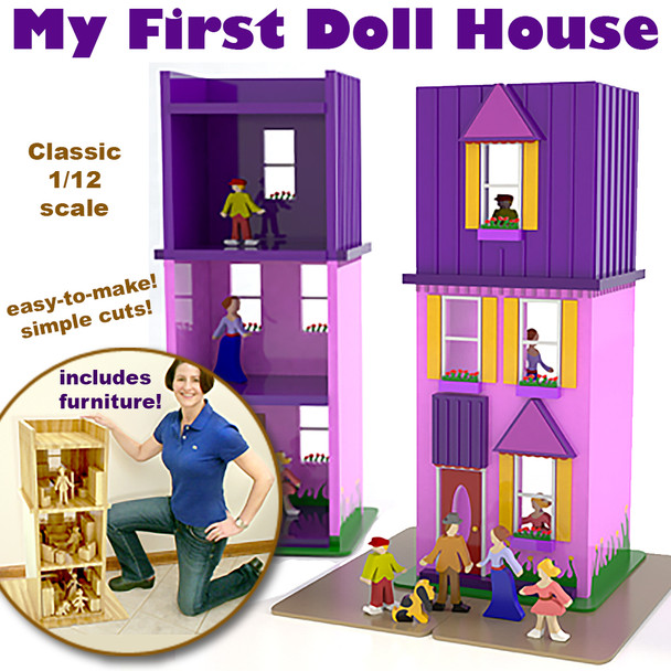 My First Doll House (PDF Download) Wood Toy Plans