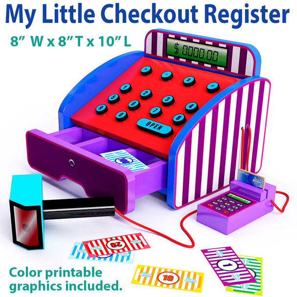 My Little Checkout Register (PDF Download) Wood Toy Plans