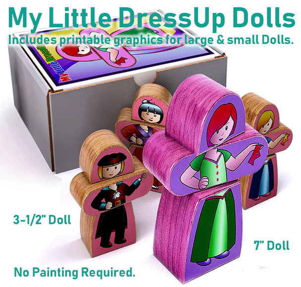 My Little DressUp Dolls (PDF Download) Wood Toy Plans
