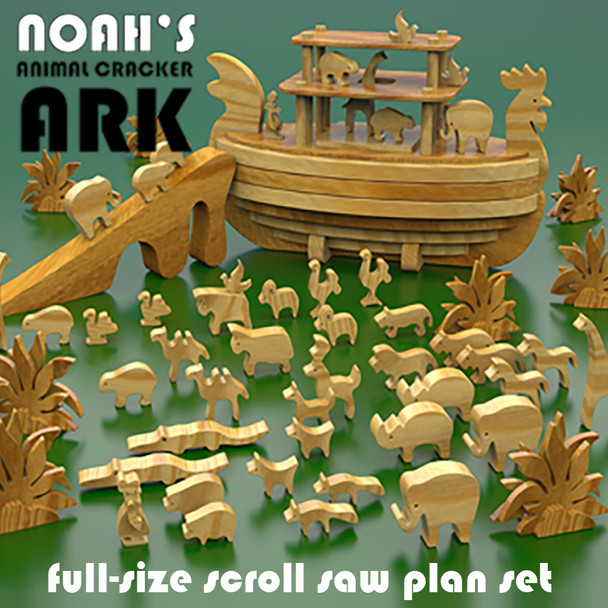 Noah's Animal Cracker Ark (PDF Download) Wood Toy Plans