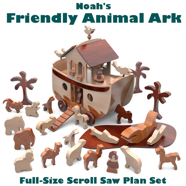 Noah's Friendly Animal Ark (PDF Download) Wood Toy Plans