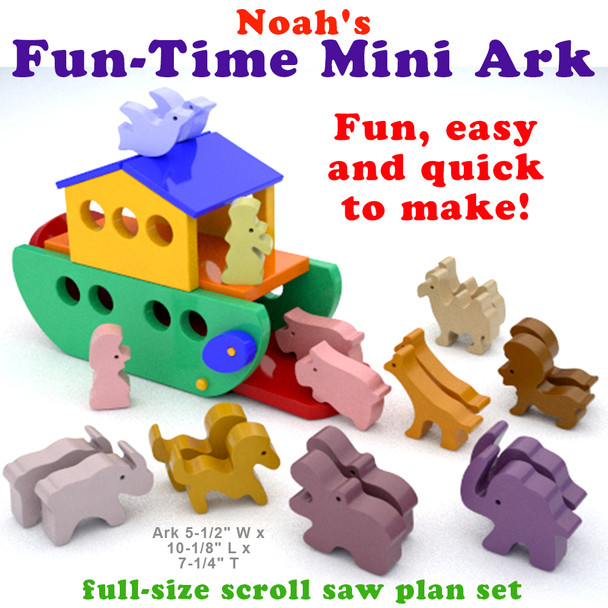 Noah's Fun-Time Mini Ark (PDF Download) Wood Toy Plans