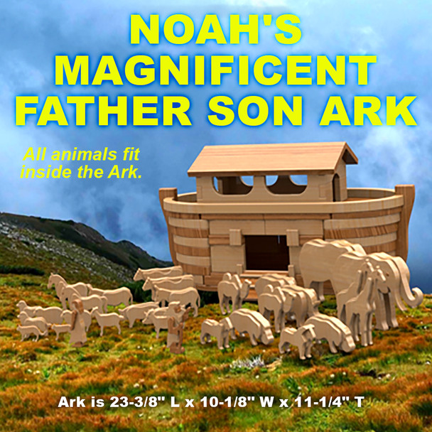 Noah's Magnificent Father Son Ark (PDF Download) Wood Toy Plans