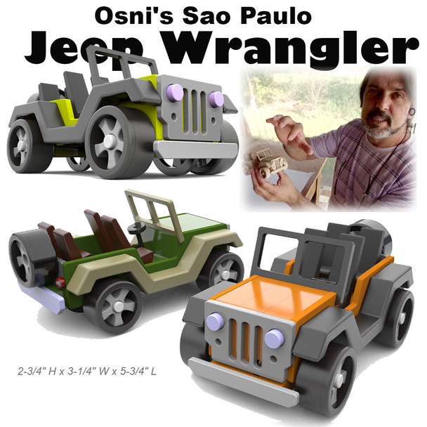 Osni's Sao Paulo Jeep Wrangler (PDF Download) Wood Toy Plans